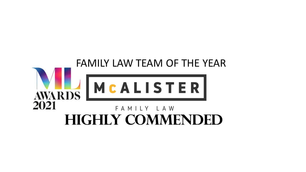 McAlister Family Law awarded Highly Commended accolade at the Manchester Legal Awards